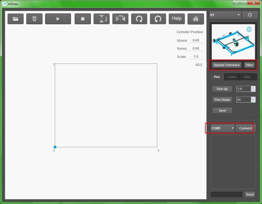 XY Plotter V2.0 User Guide 2 1 c. Click button to enter the setup window. Generally