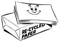 "reams of paper that is not recycled or printed double-sided. Third, making your office a ""green"""