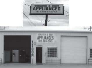 & Mark Ranne B.H. DAVES Scratch & Dent Appliances Parts • Sales • Service Since 1921