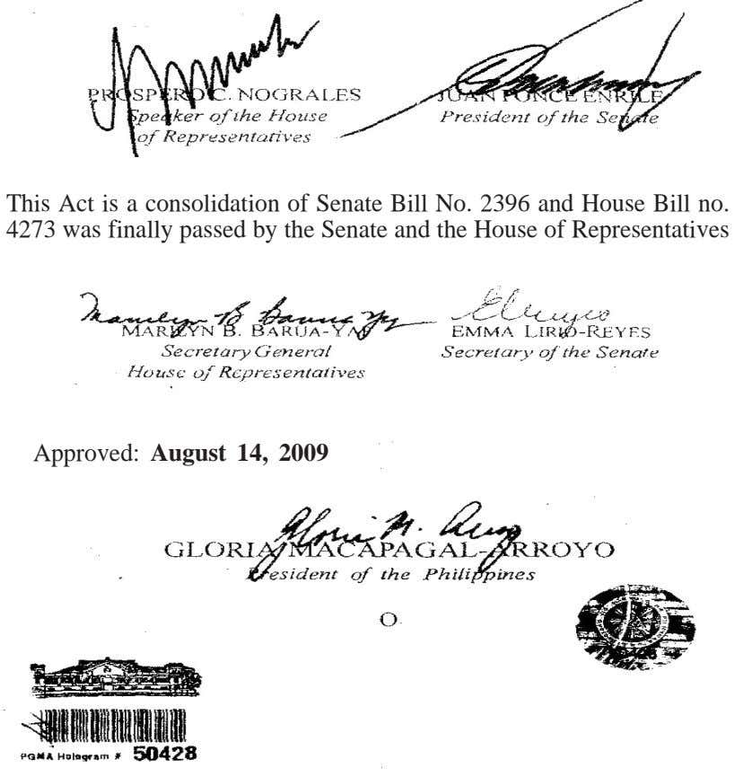 This Act is a consolidation of Senate Bill No. 2396 and House Bill no. 4273