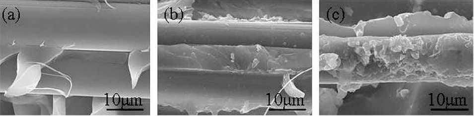 higher improvement of composite m echanical properties [6]. Fig.1. SEM images of split surface of Kevlar