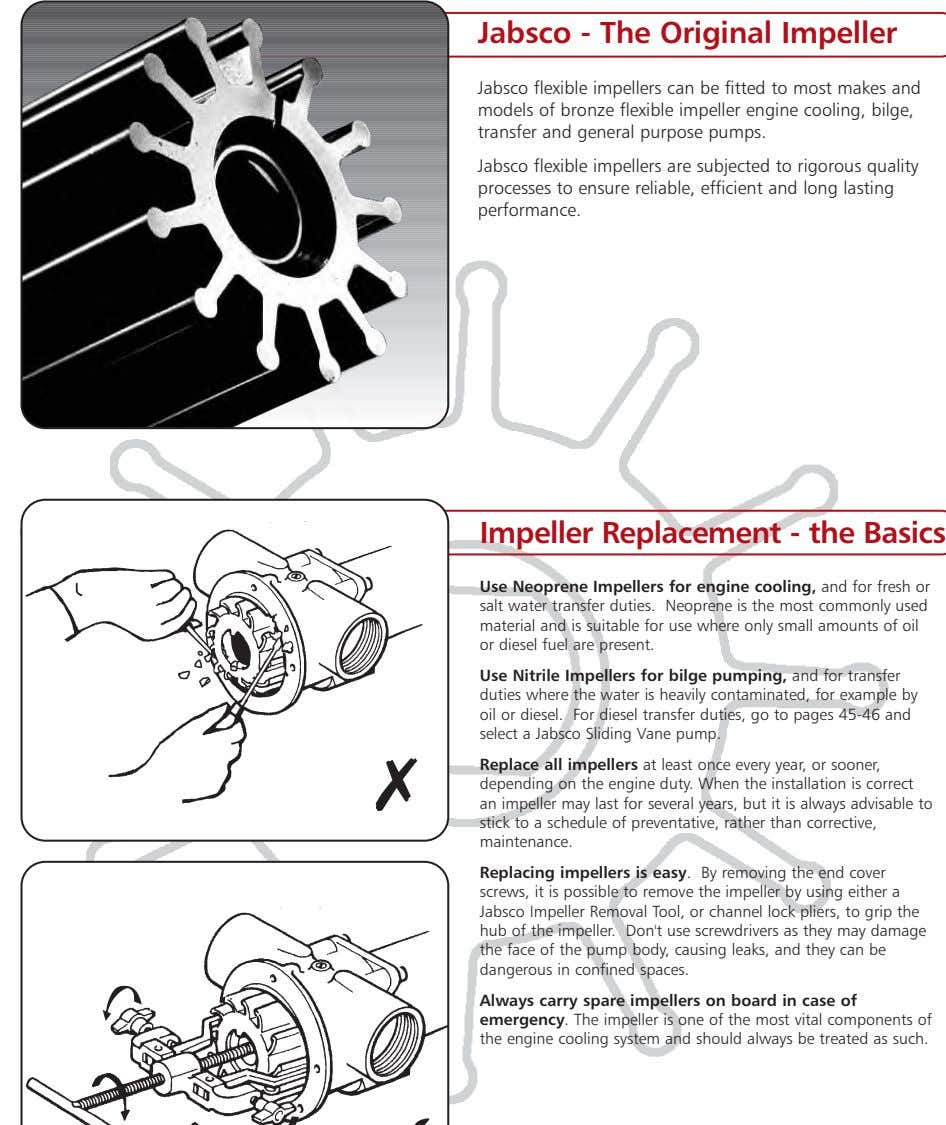 Jabsco - The Original Impeller Jabsco flexible impellers can be fitted to most makes and