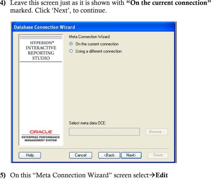 "4) Leave this screen just as it is shown with ""On the current connection"" marked."
