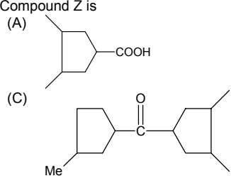 Compound Z is (A) COOH (C) O C Me