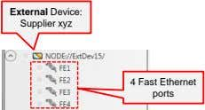 External Device: Supplier xyz 4 Fast Ethernet ports