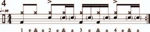 "beat, the pullout happens on the ""a"" of 3 and 4. This beat has a pullout"