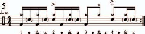 followed by a bass drum note—one of my favorite sounds. Reprinted by permission of Modern Drummer
