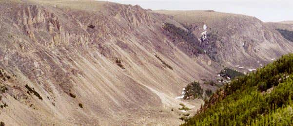 Rockfall Rockfall occurs when physical weathering (ice wedging) loosens angular boulders from rocky cliffs in mountainous