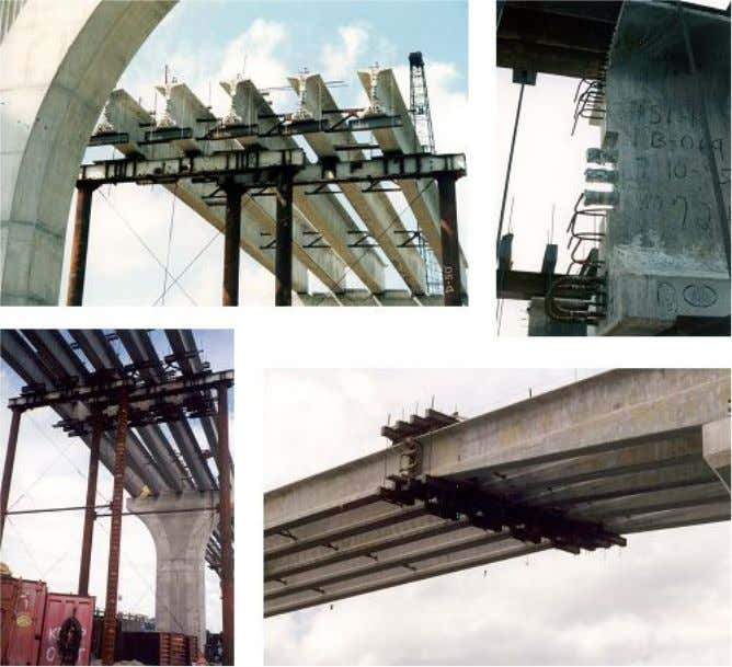 the main and side-spans. An example is shown in Figure 1.7 Figure 1.7-Spliced Haunched I-Girder of