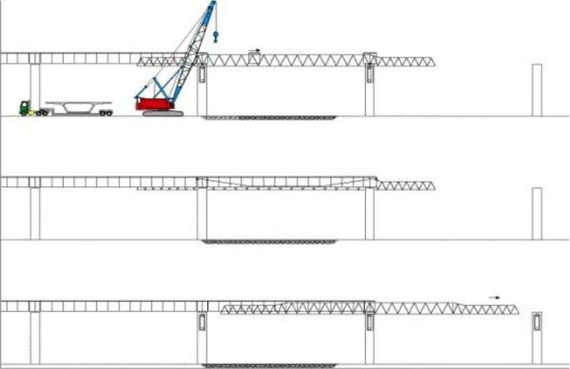 segments are added, more top cantilever tendons are added. Figure 1.11 - Precast Segmental Balanced Cantilever