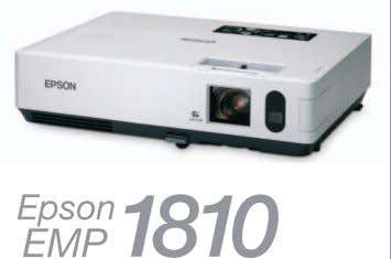 around easily or mounted more permanently on the ceiling. XGA 2.9Kg 3500lm Impress audiences with Epson