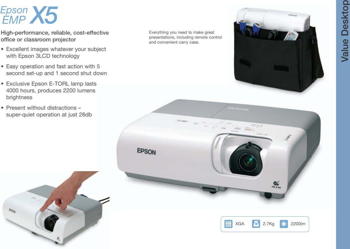 High-performance, reliable, cost-effective office or classroom projector Everything you need to make great