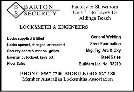 Refrigeration Licence Number: L022203 AU Number 23916 ALDINGA CANVAS Annexe & Tent Zips, Repairs &