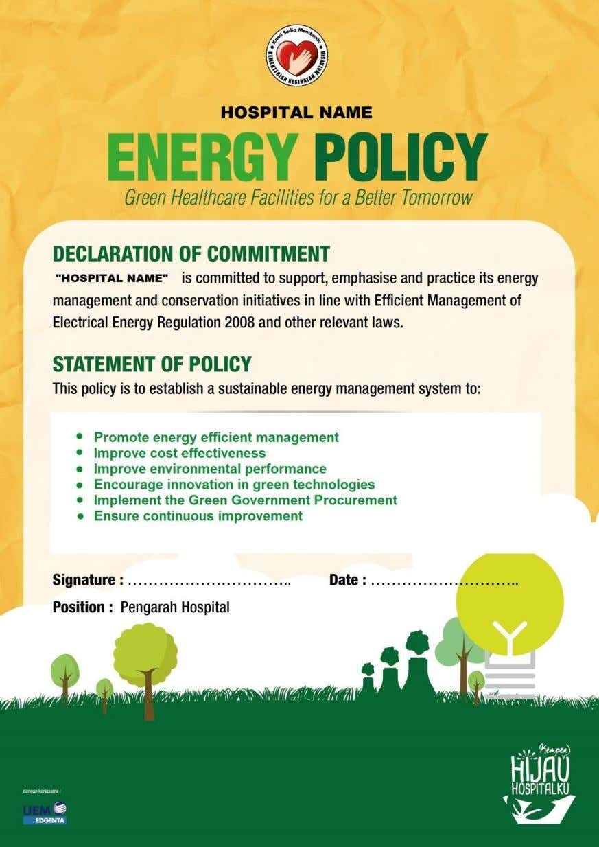 APPENDIX A : RECOMMENDED ENERGY POLICY 29