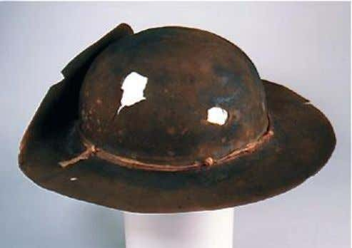 suitable for service in the field. No civilian tricorns. Above: Round hat worn by Phineas Meigs,