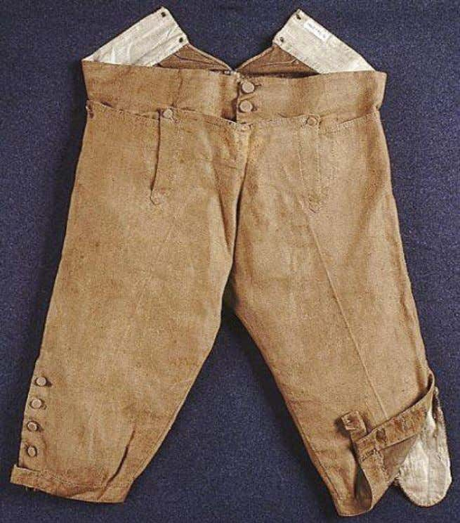 """A pair of linen breeches."" (Image source: ""18th C entury Material Culture: Male Clothing, Drawers,"