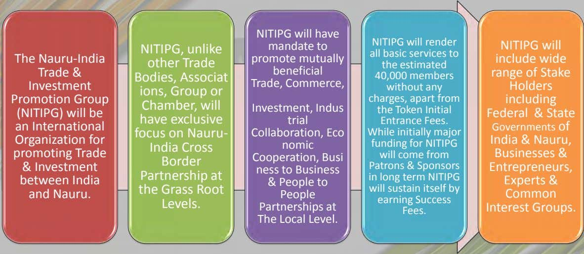 NITIPG will have mandate to NITIPG will render NITIPG will NITIPG, unlike all basic services