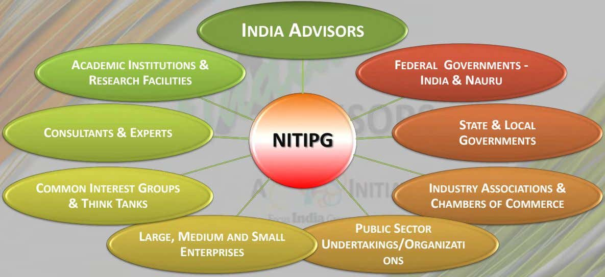 INDIA ADVISORS ACADEMIC INSTITUTIONS & RESEARCH FACILITIES FEDERAL GOVERNMENTS - INDIA & NAURU CONSULTANTS