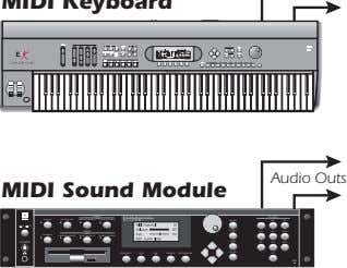 Audio Outs MIDI Sound Module SAMPLE TRIGGERS TRANSPOSE MASTER/GLOBAL SAMPLE MANAGEMENT DIGITAL PROCESSING INC/YES