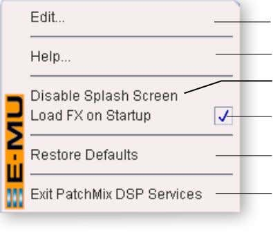 "Mix DSP application to start audio again. Right-Click Here The Toolbar New Save ""About"" Session Session"
