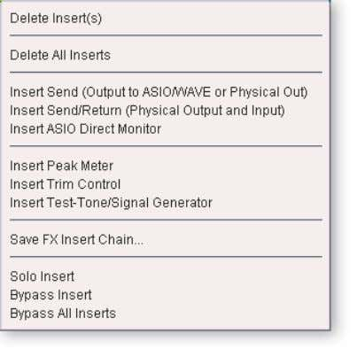 insert options to help you control and manage your inserts. To Add a Send Insert: This