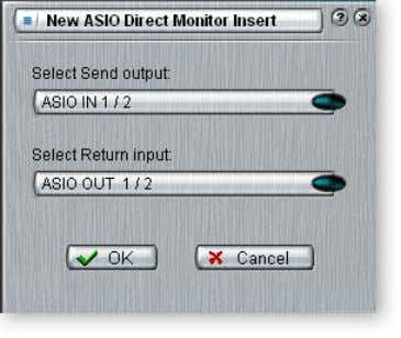 Direct Monitor Send/Return to monitor the recorded track. Input Direct Mon Recording Software Input Direct Mon