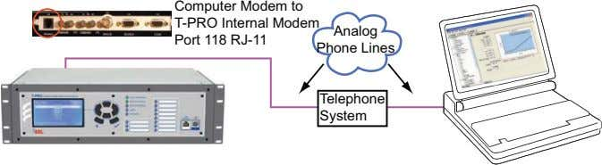 Computer Modem to T-PRO Internal Modem Port 118 RJ-11 Analog Phone Lines Telephone System
