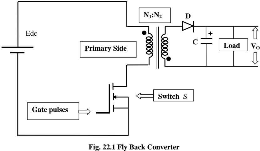 N 1 :N 2 D Edc C Load Primary Side V O Switch S Gate