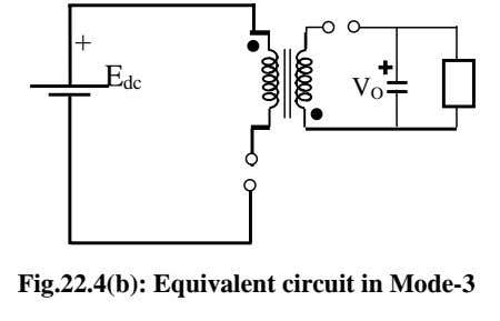 + E dc V O Fig.22.4(b): Equivalent circuit in Mode-3