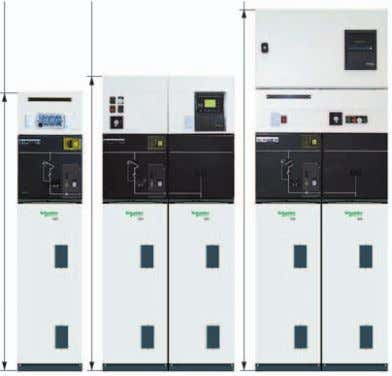 h = 1690 mm 61008N C - LV control cabinet h = 2050 mm A -