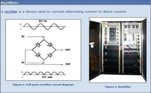 conductive devices ( such as diodes ) or vacuum tubes arranged for converting alternating current to