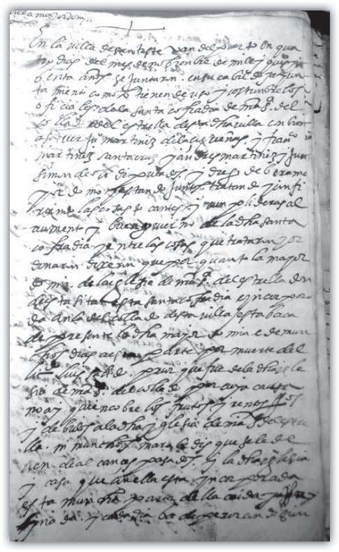 Documento de 1590, página 1 Documento de 1590, páginas 2 y 3 C OLLADO DE