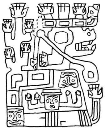 31 FIGURE 16. TIWANAKU DEPICTIONS OF LLAMAS AND PLANTS A C B D A: D ETAIL