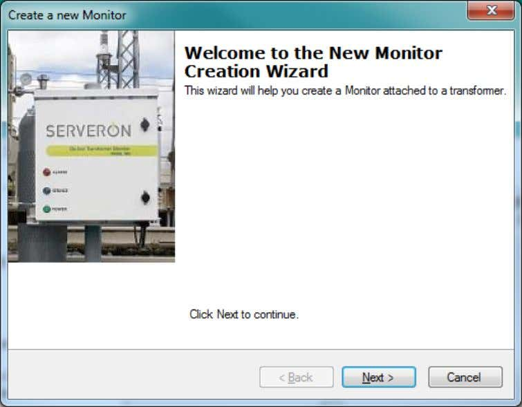 wizard. The first page of the wizard is shown in Figure 5. Figure 5 - New