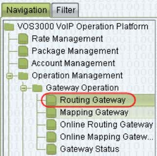 "please select ""Routing Gateway"" as shown below. DBL Technology Filename: AN002-Installing GoIP in VOS and"