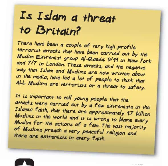 Is Islam a threat to Britain? There have been a couple of very high profile