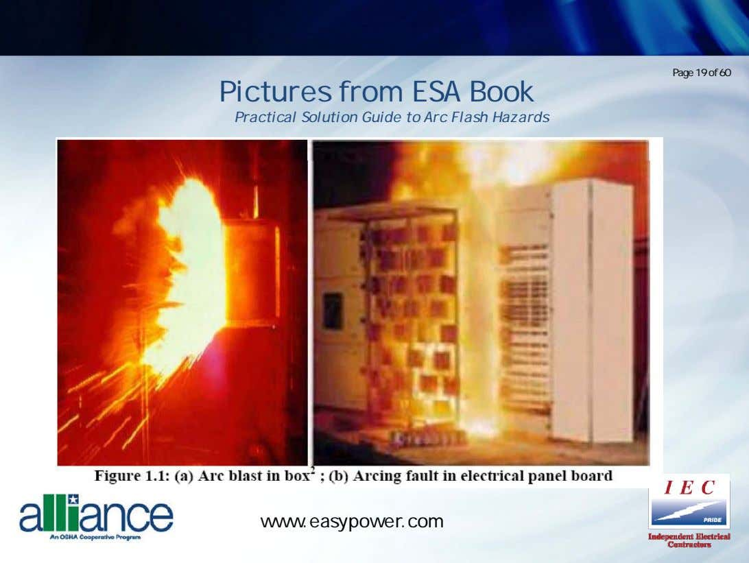 Page 19 of 60 Pictures from ESA Book Practical Solution Guide to Arc Flash Hazards