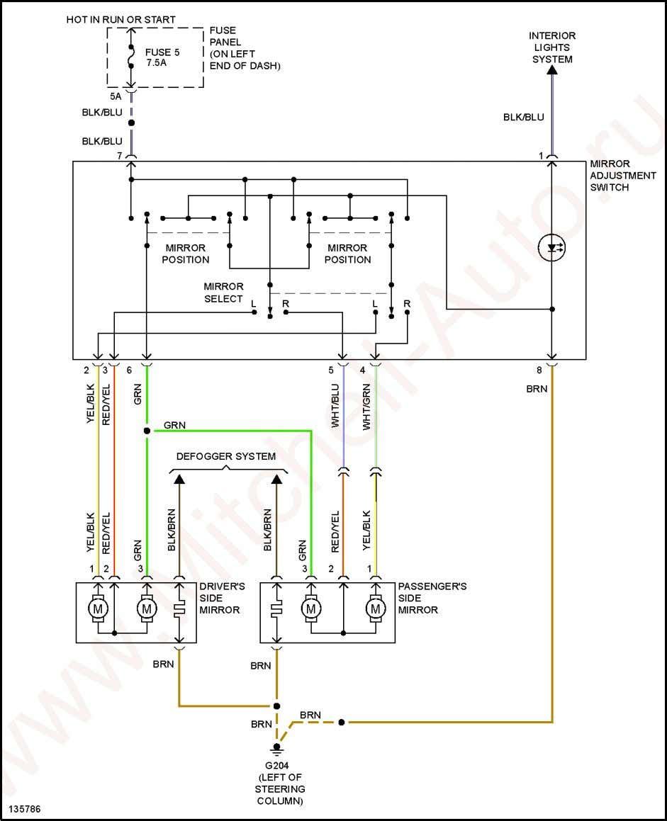 2001 Audi TT SYSTEM WIRING DIAGRAMS Audi - TT Fig. 41: Power Mirrors Circuit POWER SEATS