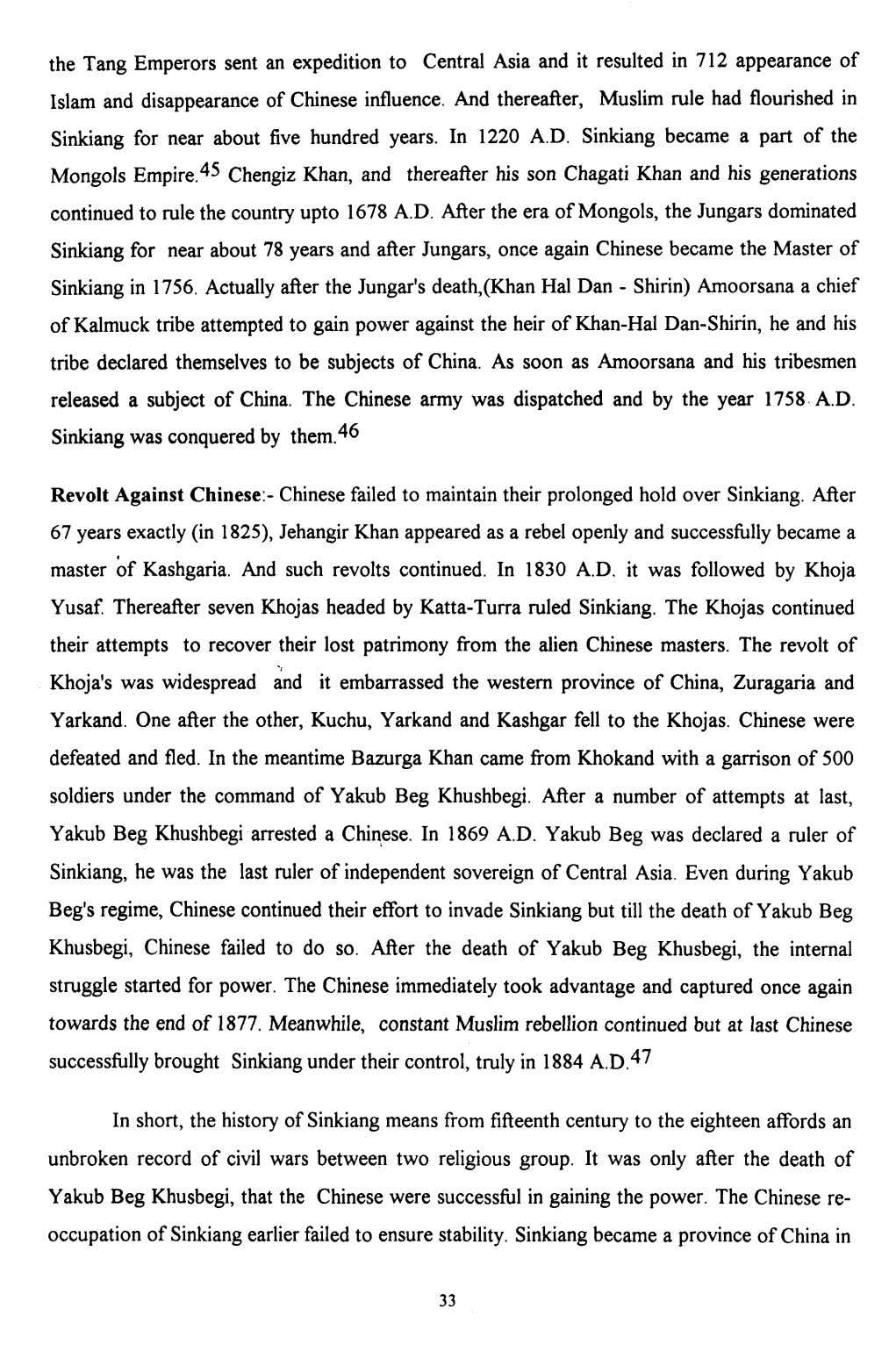 the Tang Emperors sent an expedition to Central Asia and it resulted in 712 appearance