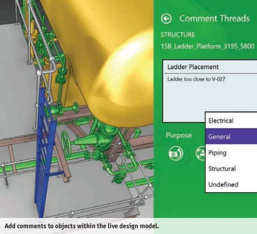 Add comments to objects within the live design model.