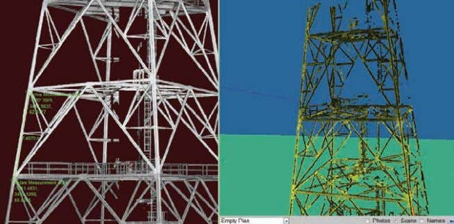 accurate as-built 3D model which we can use for redesign.' Above: 3D laser scan data from
