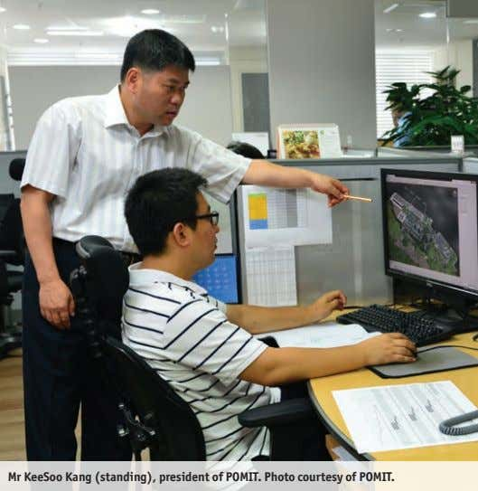 Mr KeeSoo Kang (standing), president of POMIT. Photo courtesy of POMIT.