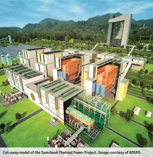 Cut-away model of the Samcheok Thermal Power Project. Image courtesy of KOSPO.