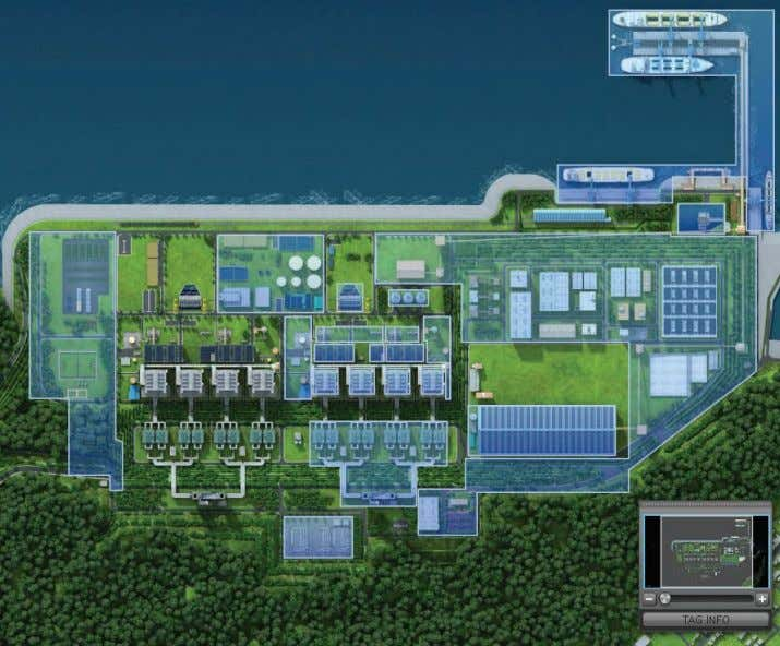 Plan view of the Samcheok Thermal Power Project. Image courtesy of KOSPO. KOSPO's Cyber ATP-1000