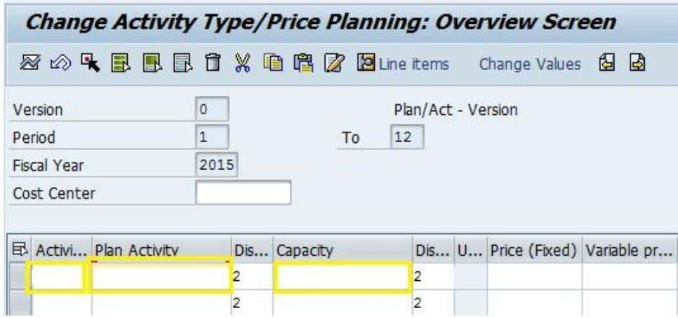 Activity Based Costing in SAP b. Primary cost planning on cost centers through KP06 All the