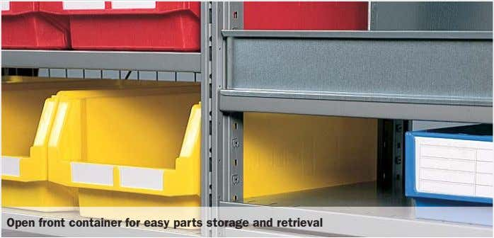 Open front container for easy parts storage and retrieval
