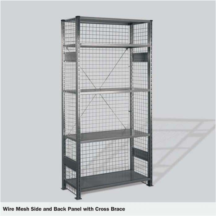 Wire Mesh Side and Back Panel with Cross Brace