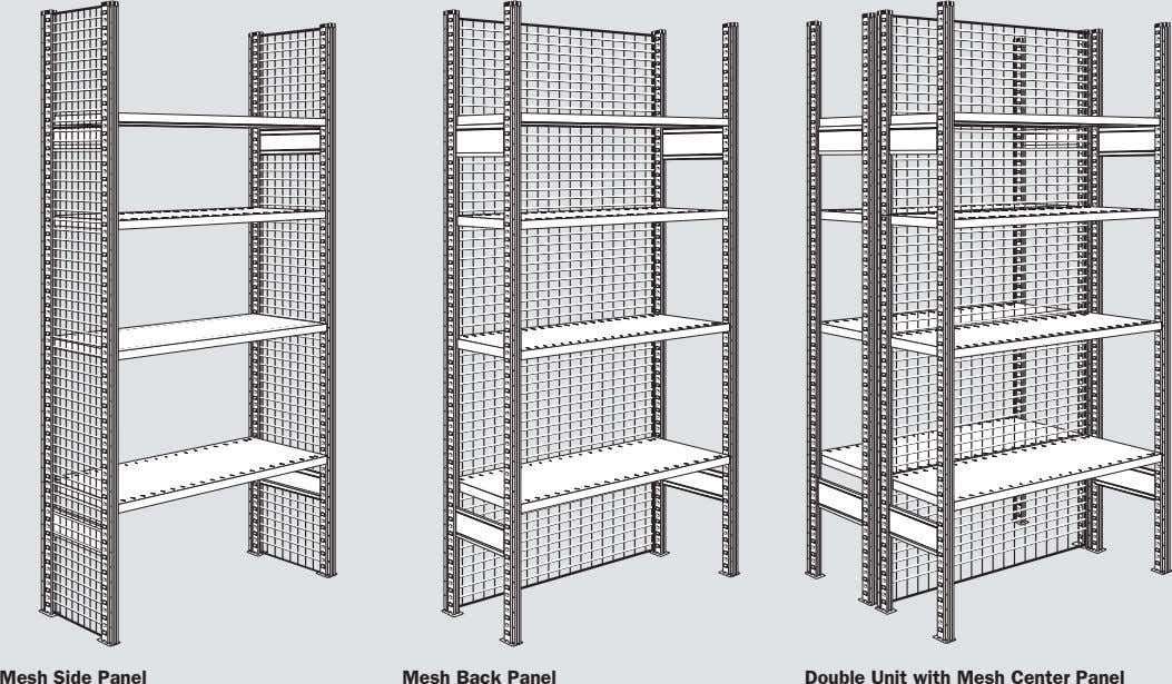 Mesh Side Panel Mesh Back Panel Double Unit with Mesh Center Panel