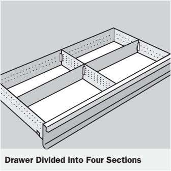 Drawer Divided into Four Sections