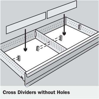 Cross Dividers without Holes